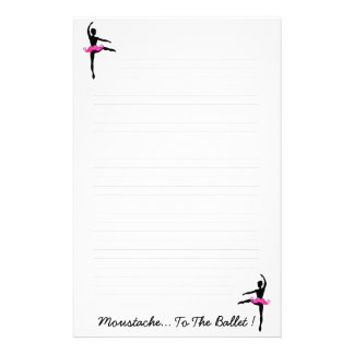 Moustache.. To The Ballet Stationery