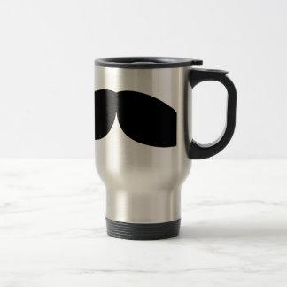 moustache travel mug