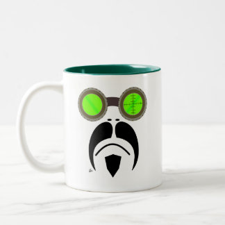 Moustache Welding Style Goggles Mug