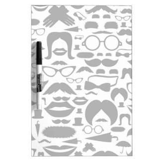 Moustaches a background dry erase board