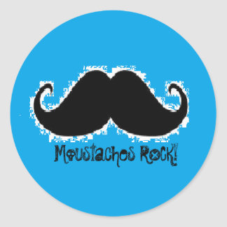 Moustaches ROCK! stickers