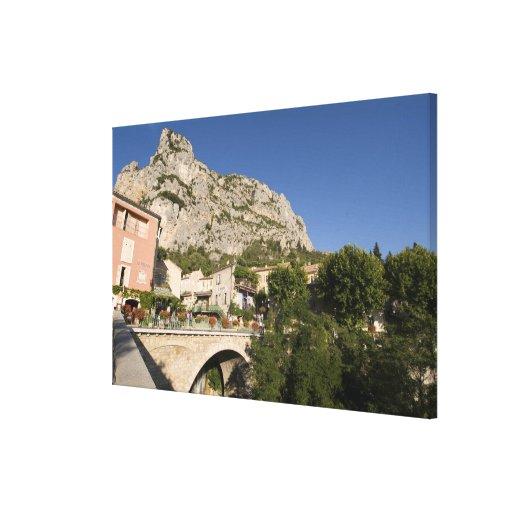 Moustiers-Sainte-Marie, Provence, France. Gallery Wrap Canvas