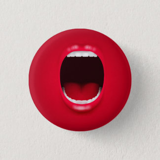 Mouth Small, 1¼ Inch Round Button