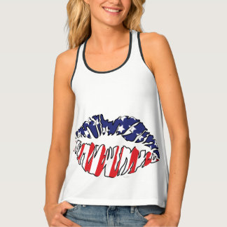 MOUTH USA All Over Print Racerback TankTop Tank Top