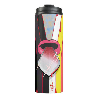 Mouth with Two-edged Sword Tongue Thermal Tumbler