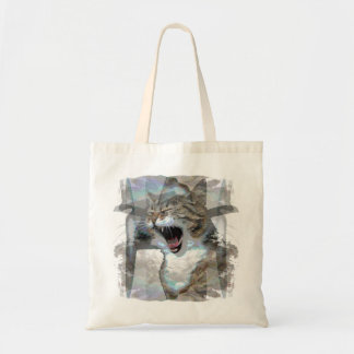 Mouthy Cat on Budget Tote Bag