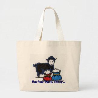 Moutons noirs, moutons noirs de bêlement de sac en toile jumbo