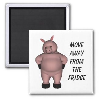 Move Away From The Fridge Square Magnet