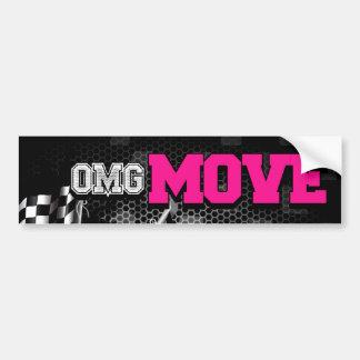 Move Bumper Sticker (Pink)