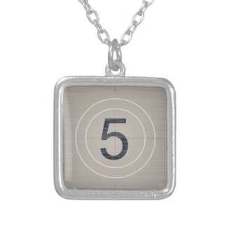 Move Countdown Silver Plated Necklace