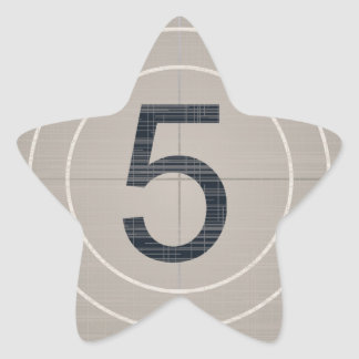 Move Countdown Star Sticker