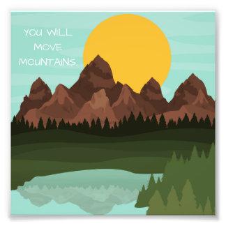 Move Mountains Photo 6x6 Wall Art