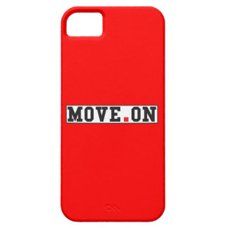 move on text message emotion red dot square iPhone 5 cases
