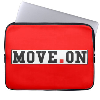 move on text message emotion red dot square laptop computer sleeves