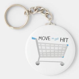 Move Or Get Hit Basic Round Button Keychain