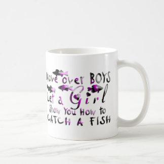 MOVE OVER BOYS GIRLS FISHING COFFEE MUG