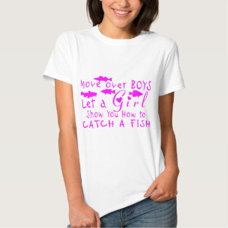 MOVE OVER BOYS GIRLS FISHING T-SHIRTS