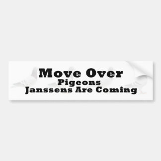 Move over Pigeons Bumper Sticker