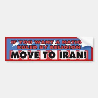 Move To Iran Bumper Sticker