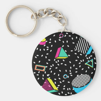 move to memphis basic round button keychain