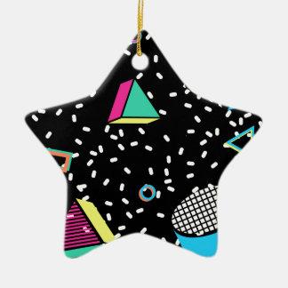 move to memphis ceramic star ornament