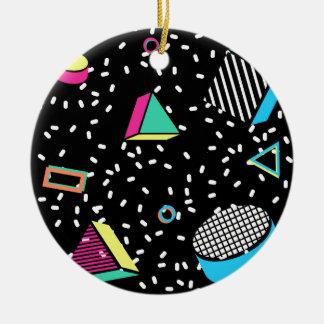 move to memphis round ceramic ornament