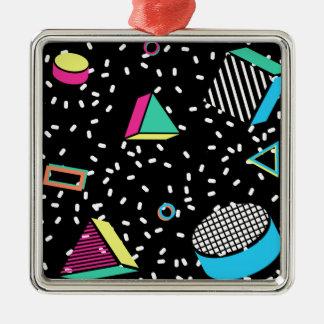 move to memphis Silver-Colored square ornament