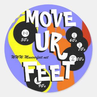 Move ur feet DJ service Round Sticker