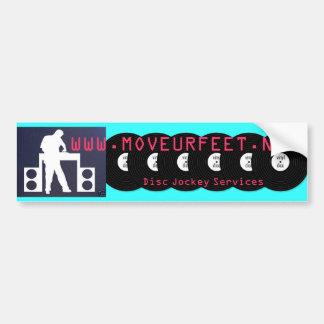 move ur feet DJs Bumper Sticker