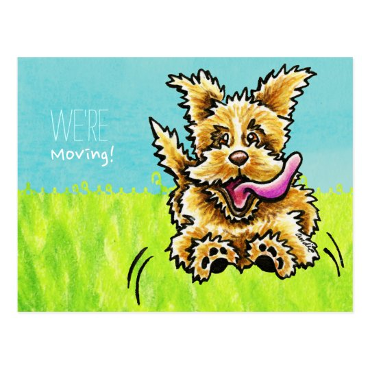 Moved Moving Cute Dog New Address Announcements Postcard