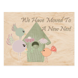 Moved To A New Nest Postcard