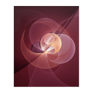 Movement Abstract Modern Wine Red Pink Fractal Art