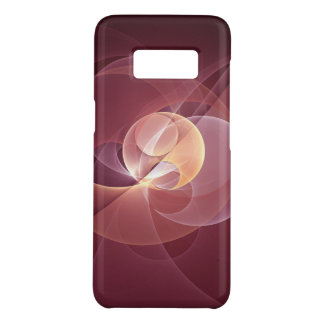 Movement Abstract Modern Wine Red Pink Fractal Art Case-Mate Samsung Galaxy S8 Case
