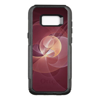 Movement Abstract Modern Wine Red Pink Fractal Art OtterBox Commuter Samsung Galaxy S8+ Case