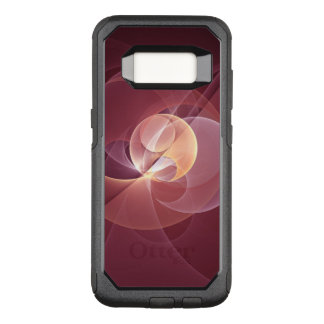 Movement Abstract Modern Wine Red Pink Fractal Art OtterBox Commuter Samsung Galaxy S8 Case