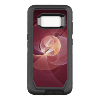Movement Abstract Modern Wine Red Pink Fractal Art OtterBox Defender Samsung Galaxy S8 Case