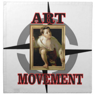 movement art boy napkin