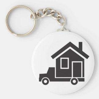 mover - relocation service - mobile home basic round button keychain