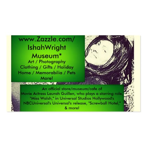 Movie Actress Laura Guillen aka Ishah Business Card Templates