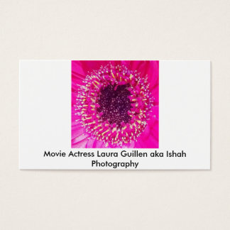 Movie Actress Laura Guillen aka Ishah Photography Business Card