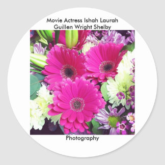 Movie Actress Laura Guillen aka Ishah Photography Round Stickers