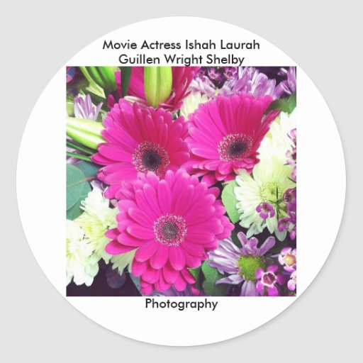 Movie Actress Laura Guillen aka Ishah Photography Round Stickers