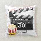 Movie Birthday Party 30th Birthday Throw Pillow