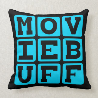 Movie Buff, Knower of Film Trivia Throw Pillow