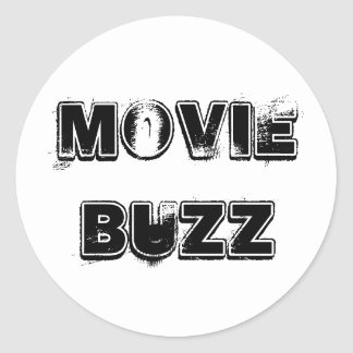 Movie Buzz Classic Round Sticker