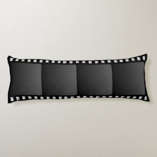 Movie Camera Film Strip Body Pillow