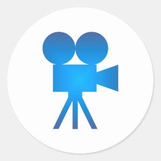 Movie camera movie camera round sticker