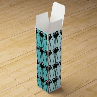 MOVIE CAMERA PATTERN DESIGN Wine Gift Box