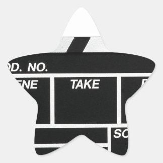 Movie Camera Side Star Sticker