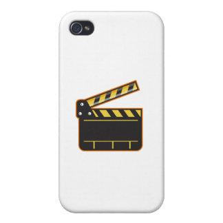 Movie Camera Slate Clapper Board Open Retro Cover For iPhone 4